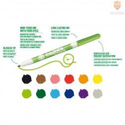 Flomastri za tekstil Carioca Fabric liner tanka konica 2,6mm 10 kosov