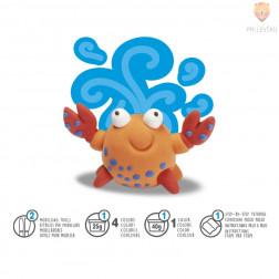 Lahka modelirna masa Modelight set za izdelavo figurice Crabby