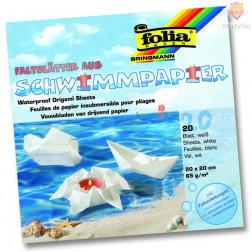 Vodoodporni origami lističi beli 20x20 cm 65 g/m2 20 kos