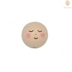 Vatne kroglice s spečim obrazom kožne barve 3cm 25 kosov