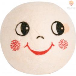 Vatne kroglice z nasmejanim obrazom kožne barve 2,5cm 25 kosov
