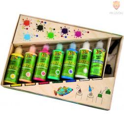 Set lepljivih barv za steklo Funny Color 7-delni set