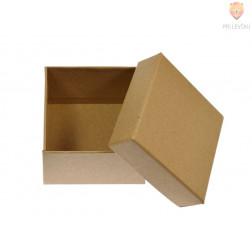 Kartonasta darilna škatla kvadratna 9x9x5cm rjava