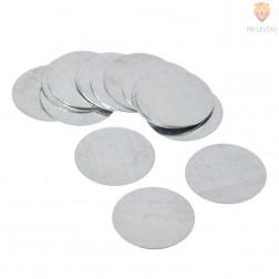 Kovinske ploščice okrogle 25 mm 15 kos