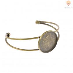 Zapestnica z okroglo osnovo za medaljon 25mm barva starega zlata 1 kos