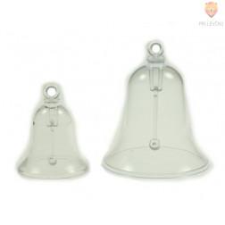 Zvonček iz prosojne plastike, 55-70 mm, 1 kos