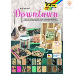 Motivblok Downtown 24cmx34 cm 20 listov