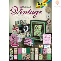 Motivblok Vintage 24cmx34 cm 20 listov