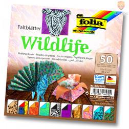 Origami papir Wildlife 15cmx15cm 50 kosov