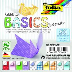 Origami papir Basics Intensiv 80g/m2 10x10cm 50 listov