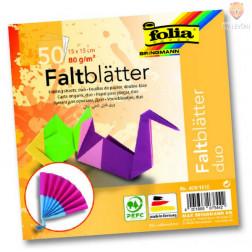 Origami papir Duo 80g/m2 15x15cm 50 kosov