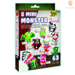 MINI MONSTER FRIENDS set za izdelavo pošasti 63-delni
