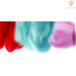 Fina barvana volna barvni miks 12 barv 350g