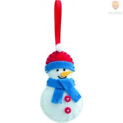 Mini filc set za šivanje Snežak
