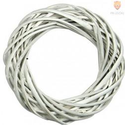 Pleten venček bele barve 20cm