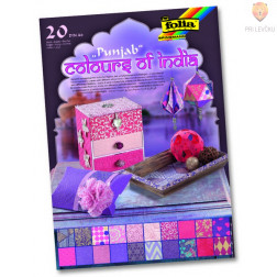 Blok papirjev Colours of India Punjab 20 listov