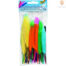 Indijansko perje barvni miks 10g