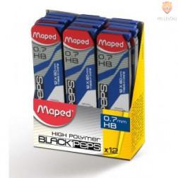Mine za tehnični svinčnik Maped 0,7 HB 12 kosov