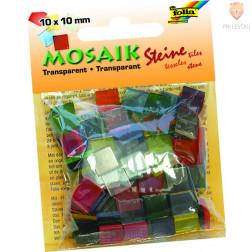 Mozaik prosojen 10x10mm barvni miks 190 kosov