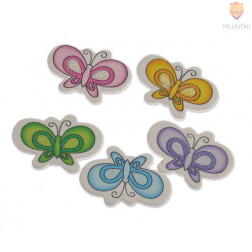 Leseni okraski - metuljčki 5 kos