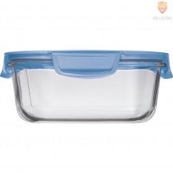 Steklena posoda za malico s pokrovom Modra 1200ml 1 kos