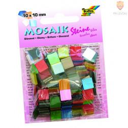 Mozaik sijajen 10x10mm barvni miks 190 kosov