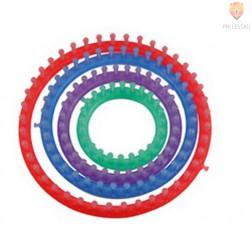 Okroglo orodje za pletenje 4 velikosti s pripomočki