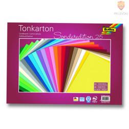 Tonkarton 220 g/m2 35x50cm 25 listov v barvnem asortimentu