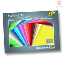 Fotokarton 300 g/m2 25x35cm 25 listov v barvnem asortimentu