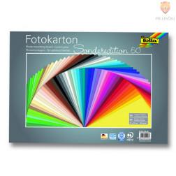 Fotokarton 300 g/m2 35x50cm 50 listov v barvnem asortimentu