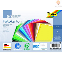 Barvni karton A5 25 barv 50 listov