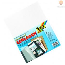 Vložni kartoni za mape 23,2x29,7cm bele barve 4 luknje 10 listov