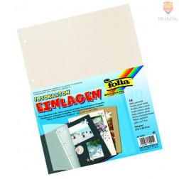 Vložni kartoni za mape 23,2x29,7cm bele biserne barve 4 luknje 10 listov