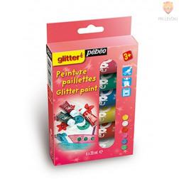 Set  barv z bleščicami Glitter paint 6x20ml