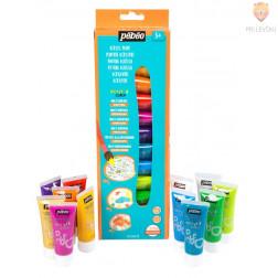 Set svetlečih akrilnih barv Acrylcolor z bleščicami 12x20ml