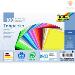 Barvni papir tonpapir A5 25 barv 100 kosov