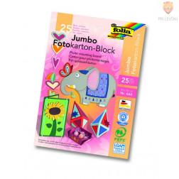 Jumbo blok barvnega kartona 25 barv 24x34cm 25-listni