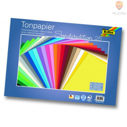 Tonpapir 130g/m2 35x50cm 25 listov v barvnem asortimentu