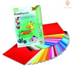 Kreativni paket barvni papir & karton 23x33m 50-listni