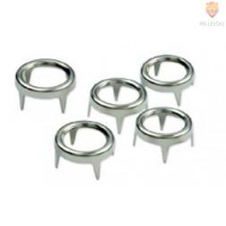 Neti v obliki obročkov 6,7mm srebrne barve 50 kosov