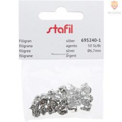 Neti filigranski 6,7mm srebrne barve 50 kosov