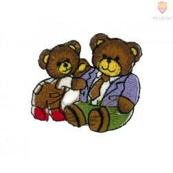 Našitek samolepilni - Dva medvedka 5 cm x 4,5 cm