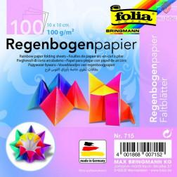 Mavrični origami papir 10x10cm 100 listov
