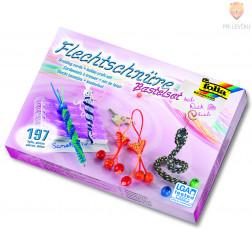 Set plastičnih vrvic za pletenje zapestnic + pripomočki