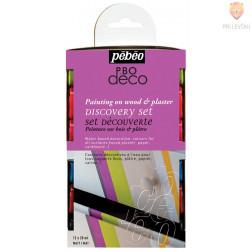 Set mat dekorativnih akrilnih barv P.BO DECO 12x20ml