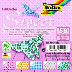 Origami papir Sweet 10x10cm 80g/m2 50 listov