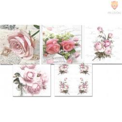 Prtički za servietno tehniko vrtnice 5 motivov 10 kosov