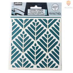 Fleksibilna šablona za tekstil Listki 15x15cm