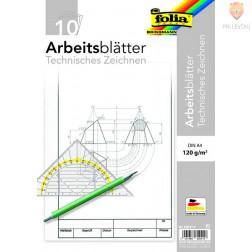 Delovni listi za tehnično risanje 120g/m2 A4 10 listov