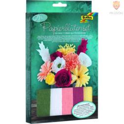 Set za izdelavo rož iz krep papirja 21 delov